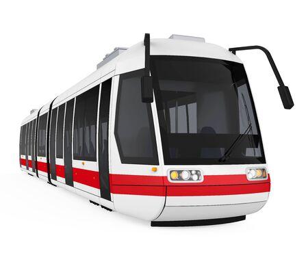 Modern Tram Isolated Imagens - 131973153