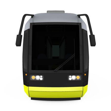 Modern Tram Isolated Stock Photo