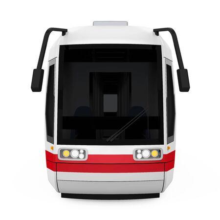 Modern Tram Isolated Imagens - 131972117