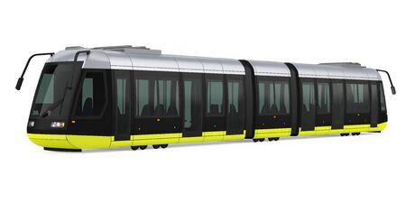 Modern Tram Isolated Imagens - 131972479