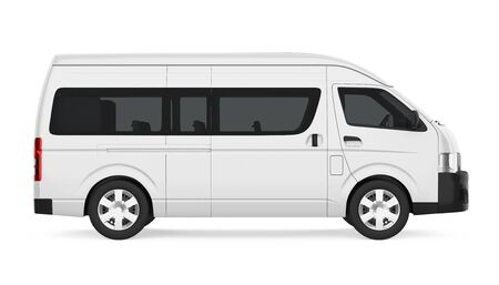 White Minibus Isolated Stock Photo - 131356964
