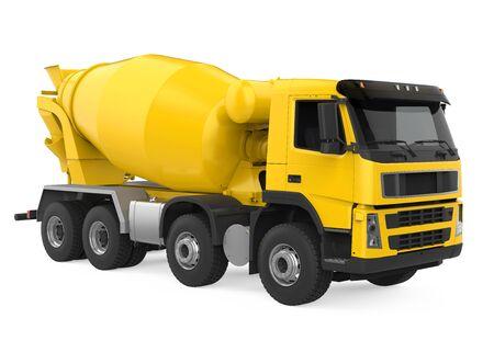 Concrete Mixer Truck Isolated Stock Photo - 131356971