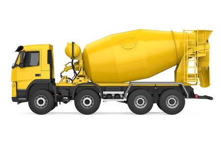 Concrete Mixer Truck Isolated Standard-Bild