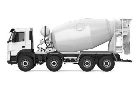 Concrete Mixer Truck Isolated Stock Photo
