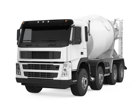 Concrete Mixer Truck Isolated 写真素材