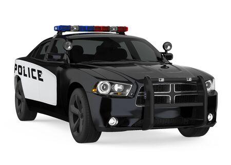 Polizeiauto isoliert