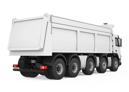 Tipper Dump Truck Isolated 스톡 콘텐츠