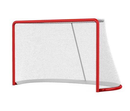 Bramy hokejowe na białym tle