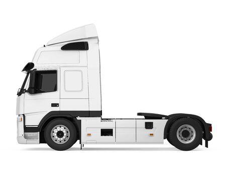 European Semi Truck Isolated