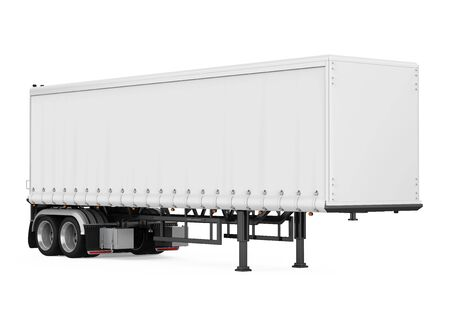 Semi-Trailer Box Isolated