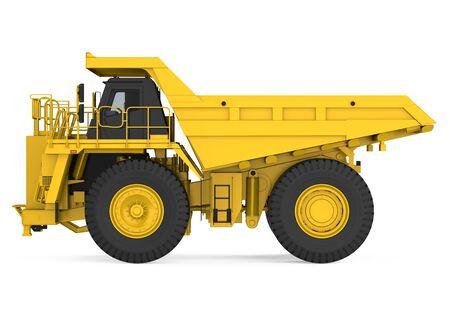 Mining Haul Truck Isolated