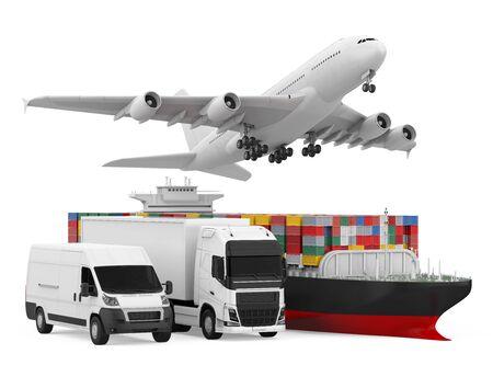 Fleet of Freight Transportation Isolated