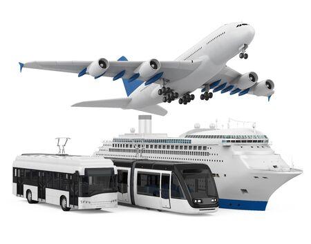 Vloot van goederenvervoer geïsoleerd