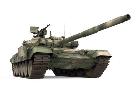 Militärpanzer isoliert