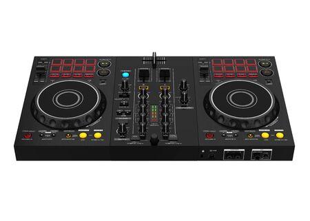 Mixer di musica DJ isolato Archivio Fotografico