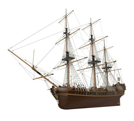 Sail Ship Isolated Zdjęcie Seryjne