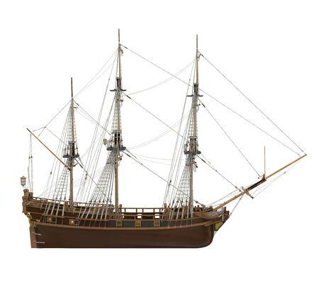 Sail Ship Isolated Standard-Bild