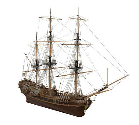 Sail Ship Isolated