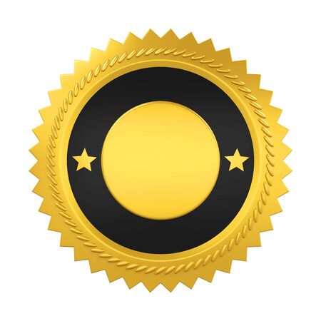 Blank Award medaille geïsoleerd Stockfoto
