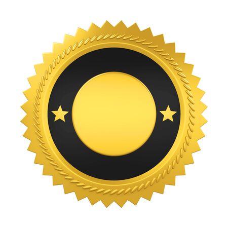 Medalla de premio en blanco aislada Foto de archivo