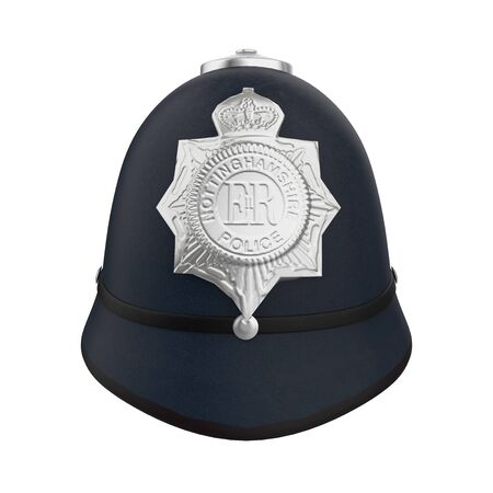 British Police Bobby Helmet Hat Isolated