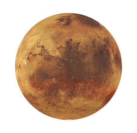 Planet Mars Isolated