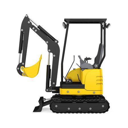 Mini Excavator Isolated