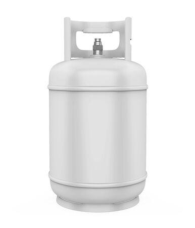 Cilindro de gas aislado Foto de archivo