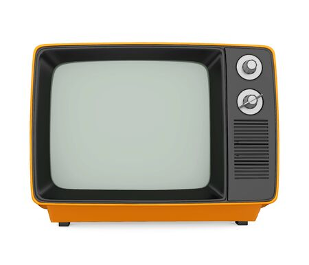Retro Television Isolated Reklamní fotografie