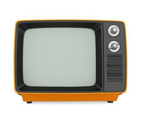Telewizja retro na białym tle Zdjęcie Seryjne