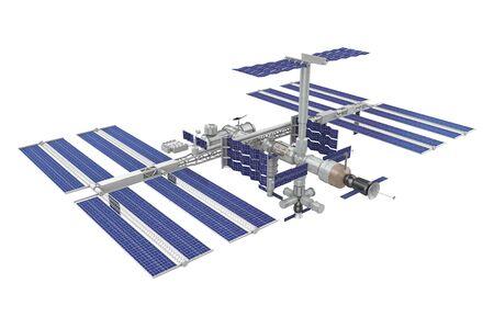 International Space Station Isolated Stock Photo