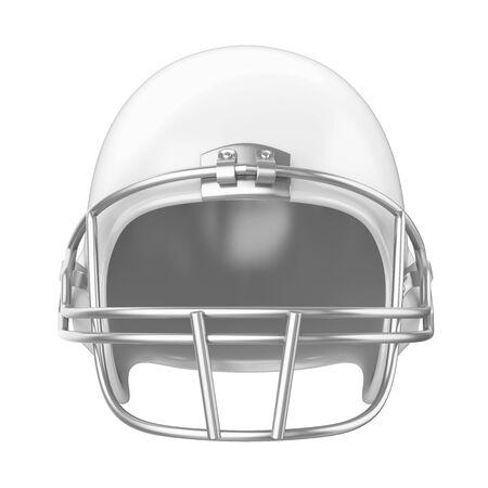Kask futbolu amerykańskiego na białym tle Zdjęcie Seryjne
