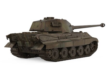 Military Tank Isolated Foto de archivo