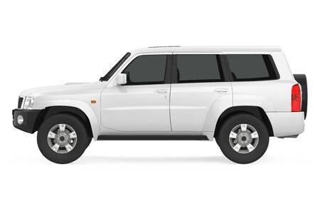 SUV Car Isolated Banque d'images - 137734904