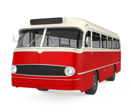 Old Vintage Bus Isolated 스톡 콘텐츠