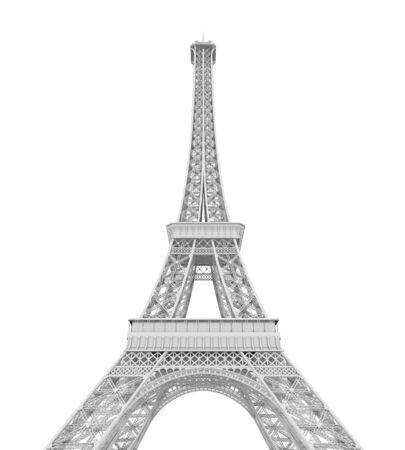 Wieża Eiffla na białym tle