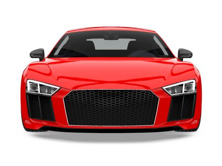 Sport Car Isolated Stock Photo