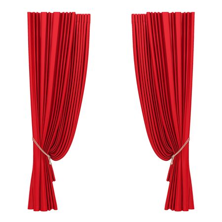 Red Curtain Isolated Stockfoto