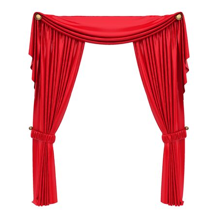 Red Curtain Isolated