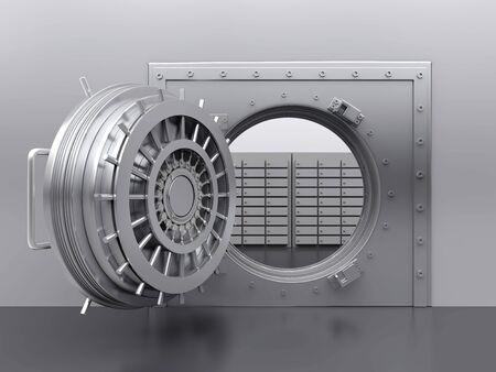 Bank Vault Door Illustration