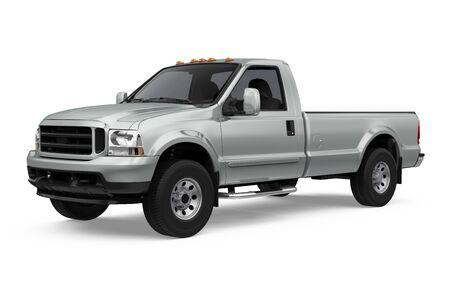 Pickup Truck Isolated Stock Photo