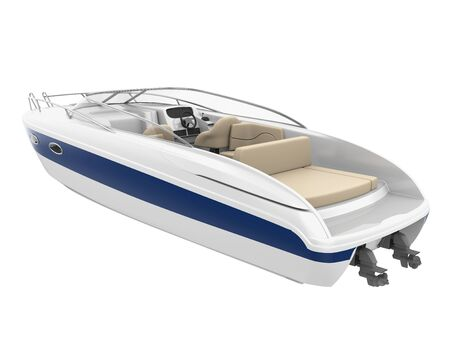 Speedboat Isolated