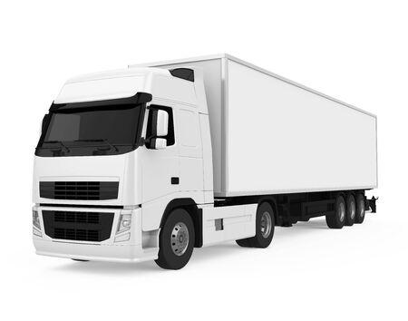 Camion conteneur isolé Banque d'images