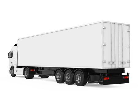 Container Truck Isolated Standard-Bild