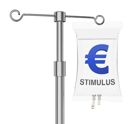 IV Bag Euro Economic Stimulus Illustration