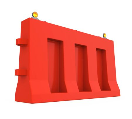 Plastic Traffic Barrier Isolated