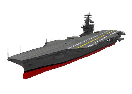 Aircraft Carrier Isolated Banque d'images