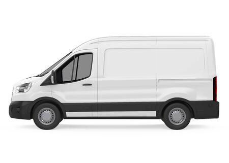 Delivery Van Isolated Standard-Bild