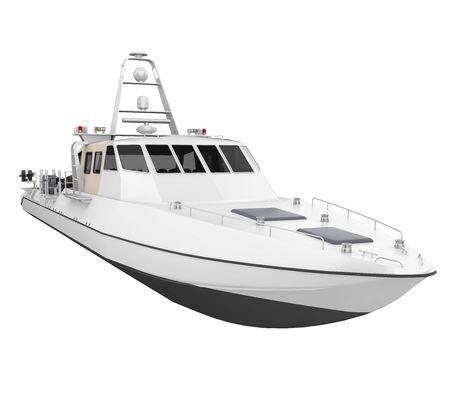 Patrol Boat Isolated Standard-Bild