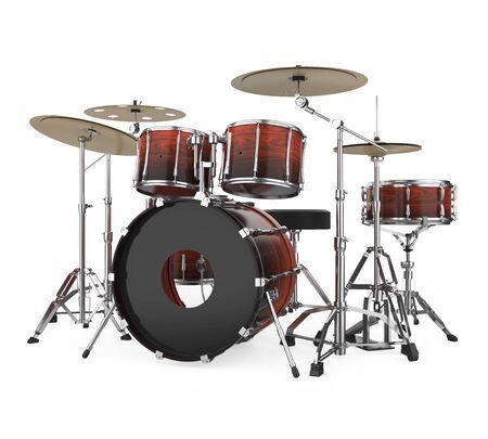 Drum Kit Isolated Imagens